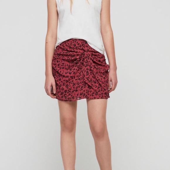 All Saints Dresses & Skirts - New All Saints Rylie Roar Twist Front Ruched Skirt